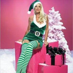 Leg Avenue Santa's Helper Sexy Elf Costume S/M